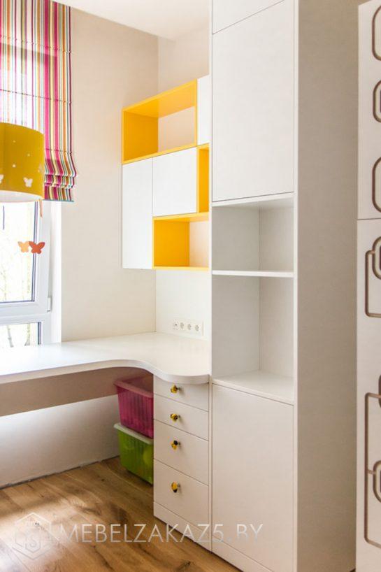 Шкафчик в детскую для двоих полузакрытого типа