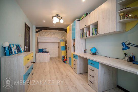 Современный комплект мебели в детскую комнату для мальчиков