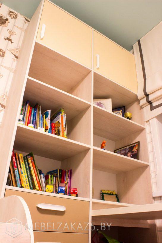 Стеллаж в детскую комнату для мальчика