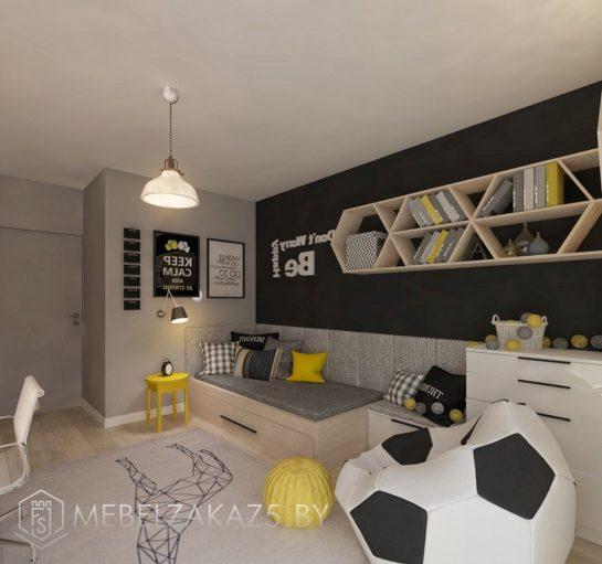 Ультрасовременный комплект мебели в комнату для мальчика