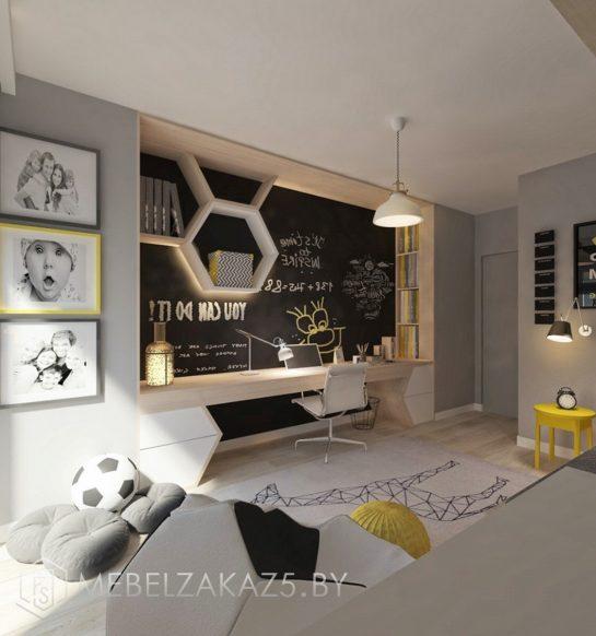 Набор мебели в ультрасовременном стиле для мальчика-подростка