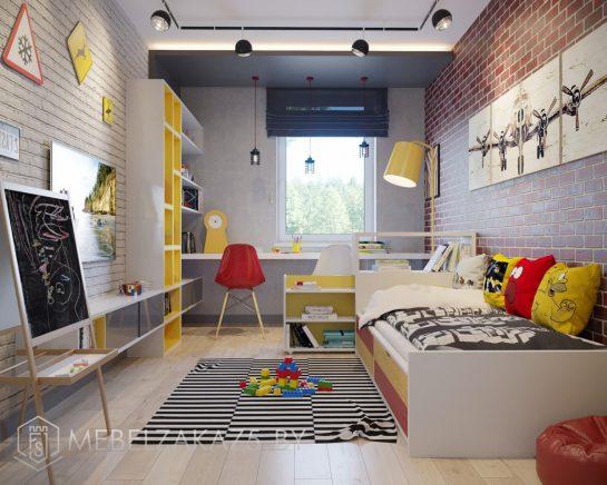 Современная мебель в комнату для мальчика в стиле лофт