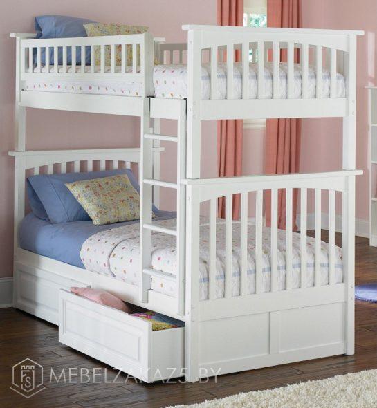 Классическая детская двухъярусная кровать