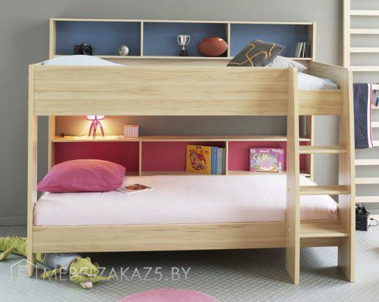 Современная двухъярусная кровать для детской комнаты