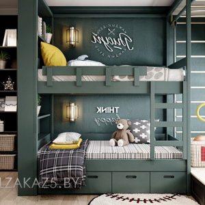 Детская двухъярусная кровать для мальчиков