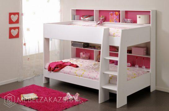 Маленькая двухъярусная кровать в детскую
