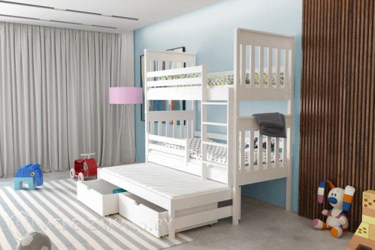 Современная двухъярусная кровать с выдвижным спальным местом
