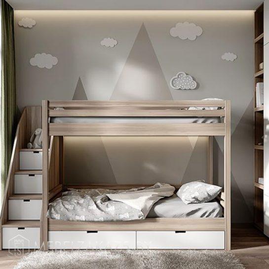 Двухъярусная кровать без ножек в детскую комнату