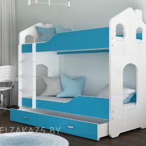 Двухъярусная кровать в детскую с дизайном в виде домика