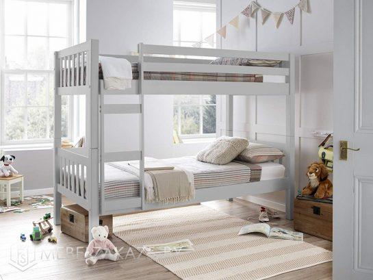 Двухъярусная кровать в детскую серого цвета