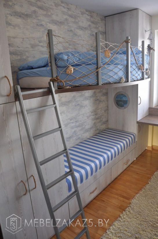 Двухъярусная кровать корабль