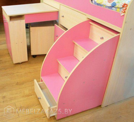 Лестница в детской кровати-чердаке