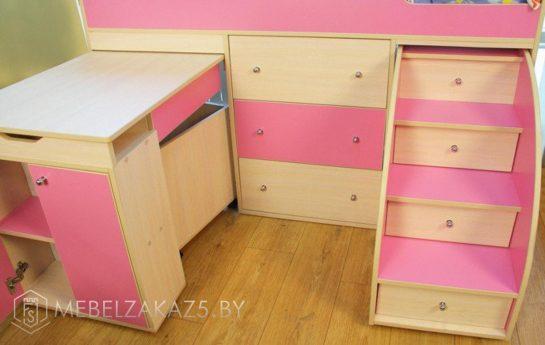 Выдвижные ящики детской кровати-чердака