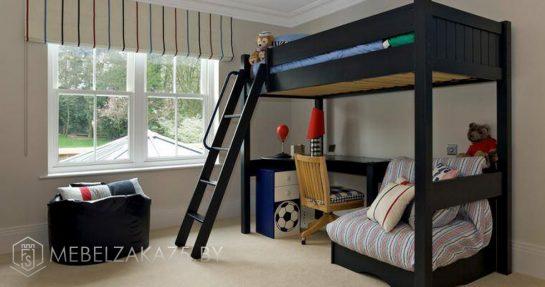 Современная кровать-чердак в детскую в стиле модерн