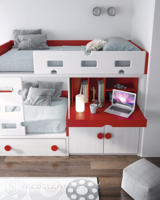 Ультрасовременная кровать-чердак в детскую
