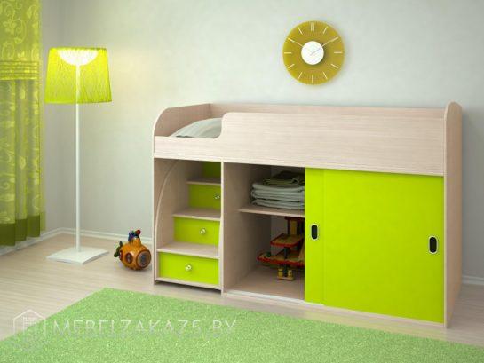 Небольшая кровать-чердак для детей от трех лет