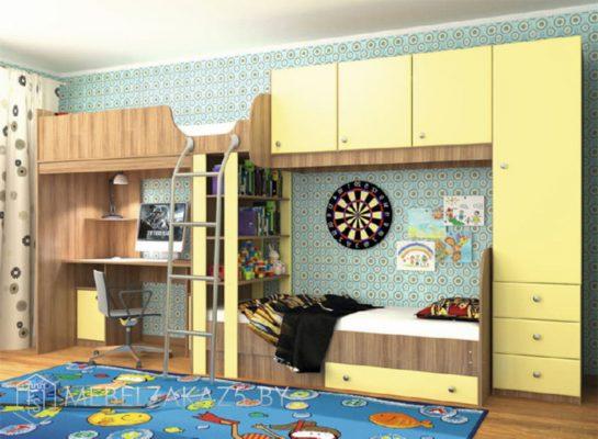Кровать-чердак с дополнительным спальным местом в детскую