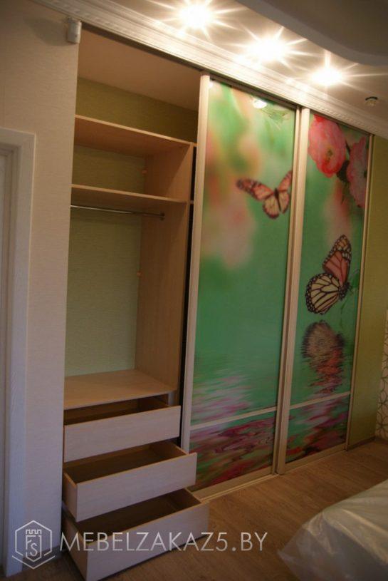 Шкаф-купе с фотопечатью в комнату ребенка от 3х лет в открытом виде