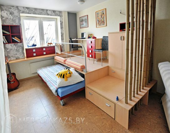Выдвижная кровать в комнату для детей от 3 лет