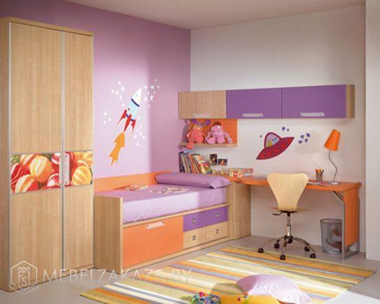 Современная мебель в комнату для трехлетней девочки