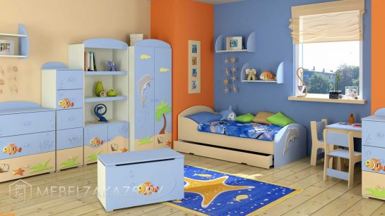 Комплект мебели в морском стиле для трехлетнего мальчика