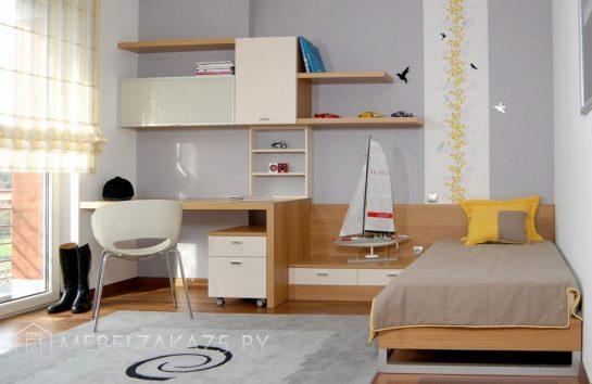 Современный набор детской мебели в морском стиле в комнату для трехлетнего мальчика