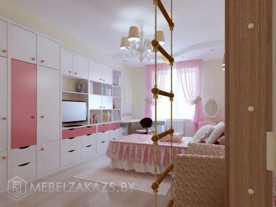 Большой набор мебели в детскую для девочки-подростка