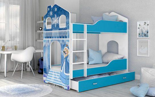 Кровать-домик двухъярусная
