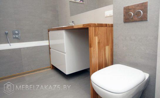 Тумба без ручек под квадратную ванную