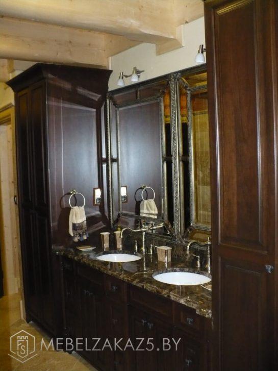 Набор мебели в ванную в классическом стиле