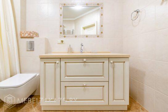 Классическая тумба под раковину в ванную комнату