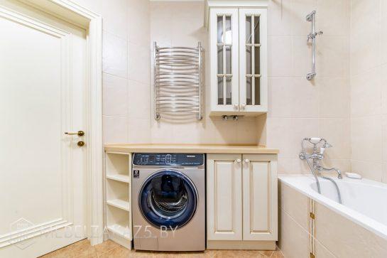Бежевый набор мебели для ванной комнаты