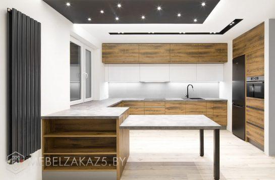 П-образная кухня в стиле минимализм
