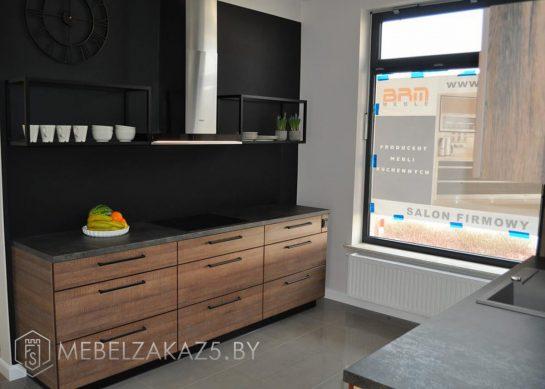 Маленькая прямая кухня модерн из ЛДСП