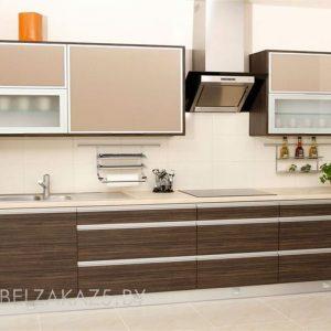 Прямая кухня в современном стиле из ЛДСП