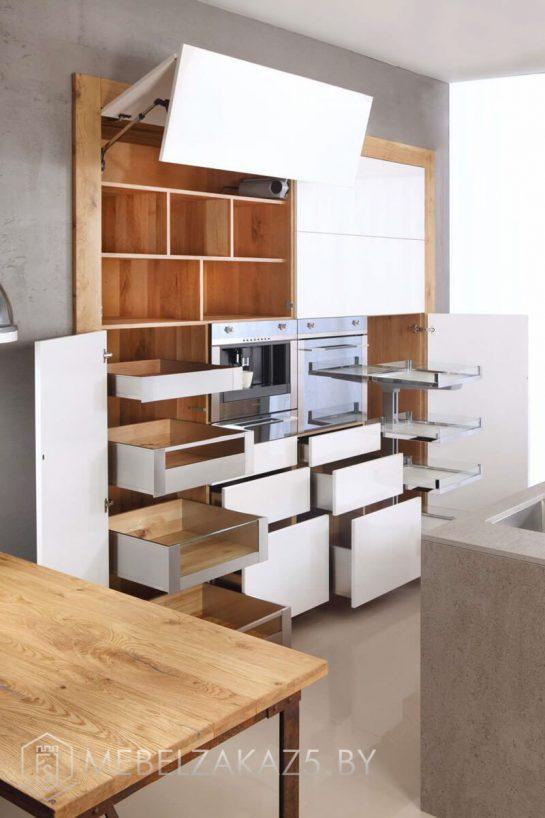 Встроенная прячущаяся кухня с островом 709(2)