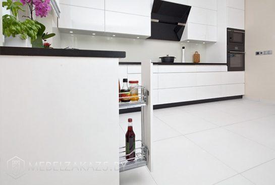 Угловая кухня минимализм без ручек