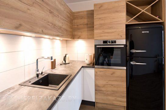 Угловая кухня кухня в стиле хай тек матовая
