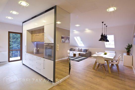Встроенная кухня в скандинавском стиле