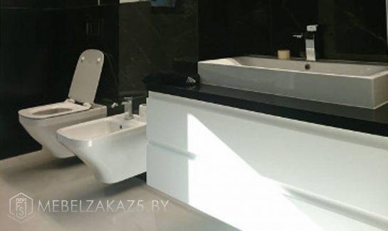 Тумба для ванной белая в стиле минимализм