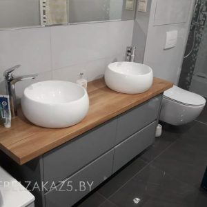 Тумба под раковину в ванную в стиле хай тек