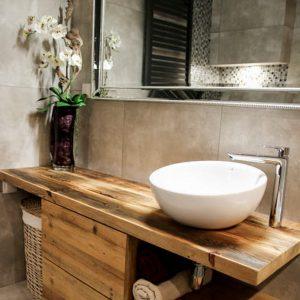 Тумба под раковину для ванной комнаты из массива дерева
