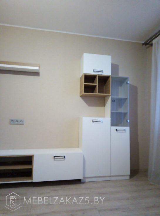 Мебель для гостиной белого цвета в современном стиле