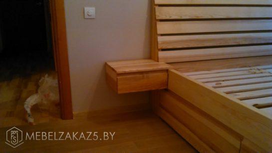 Кроватьиз массива с подвесными ящиками