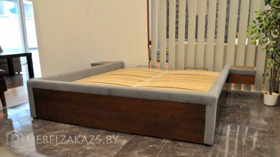 Кровать модерн с подвесными ящиками