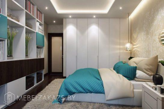 Белый распашной шкаф в стиле хай тек