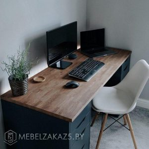 Компьютерный стол черный в стиле модерн
