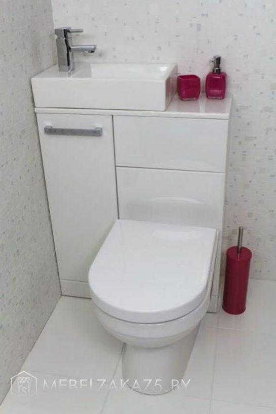 Тумба в туалет с маленьким умывальником