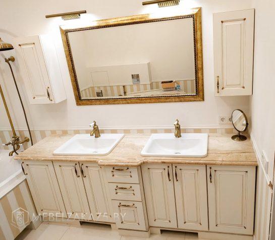 Классическая тумба под раковину в ванную